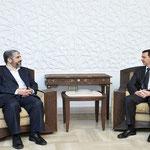 الرئيس الأسد يستقبل المكتب السياسي لحماس مهنئاً الشعب الفلسطيني بنصر المقاومة في غزة - 24.01.2009