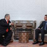 الرئيس الأسد يستقبل ويجري محادثات مع الرئيس طالباني - 12.02.2011