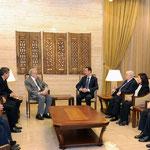 السيد الرئيس بشار الأسد يستقبل الأخضر الإبراهيمي موفد الأمم المتحدة إلى سورية - 21.10.2012