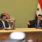 مؤتمر صحفي مشترك للرئيس الأسد و الرئيس الايراني محمود أحمدي نجاد - 25.02.2010
