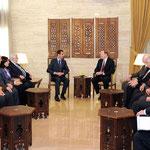 الرئيس الأسد يلتقي وفد الكونغرس الأمريكي - 22.02.2011