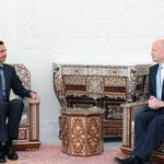 الرئيس الأسد يلتقي وزير خارجية بريطانيا - 27.01.2011