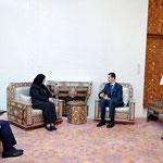 السيد الرئيس بشار الأسد يستقبل السيدة هدى بن عامر رئيسة البرلمان العربي الانتقالي - 18.02.2010