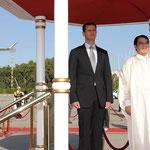مراسم استقبال رسمية للسيد الرئيس والسيدة عقيلته لدى وصولهما مطار تونس - 12.07.2010