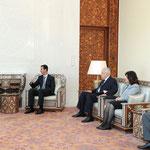 السيد الرئيس بشار الأسد يلتقي اياد علاوي رئيس القائمة العراقية - 19.07.2010