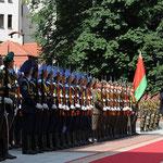 مراسم استقبال رسمية للسيد الرئيس في القصر الرئاسي في العاصمة البيلاروسية مينسك - 26.07.2010