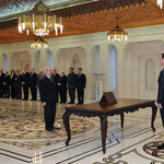 أمام السيد الرئيس بشار الأسد الدكتور حسن حجازي يؤدي اليمين الدستورية وزيرا للعمل - 12.02.2013