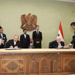 بحضور الرئيسين الأسد وأحمدي نجاد التوقيع على اتفاقية الإلغاء المشترك لسمات الدخول - 25.02.2010