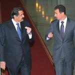 الرئيس الأسد يستقبل أمير دولة قطر - 20.01.2011