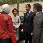 الرئيس بشار الأسد والسيدة عقيلته أسماء الأسد يصلان الى تركيا في زيارة عمل - 08.05.2010