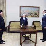 أمام الرئيس الأسد صطام جدعان الدندح يؤدي اليمين القانونية سفيرا لسورية لدى العراق  - 09.10.2012