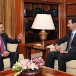 السيد الرئيس بشار الأسد يلتقي السيد سعد الحريري رئيس الوزراء اللبناني - 19.07.2010
