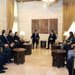 الرئيس الأسد يلتقي أعضاء المكتب التنفيذي للاتحاد الوطني لطلبة سورية - 10.01.2011