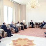 السيد الرئيس بشار الأسد يتسلم رسالة شكر خطية من السيد نيكولا ساركوزي رئيس جمهورية فرنسا تتعلق بالدور الذي لعبته سورية في إطلاق كلوتيلد رايس وبالعلاقات الثنائية بين البلدين الصديقين - 23.05.2010