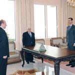 أمام السيد الرئيس بشار الأسد السيد محمد سعيد عقيل يؤدي اليمين القانونية سفيرا لسورية لدى أوكرانيا