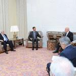 الرئيس الأسد يتسلم رسالة من الرئيس ميدفيديف تتعلق بالعلاقات الثنائية بين البلدين و تطورات الأوضاع في المنطقة نقلها سلطانوف - 10.02.2011