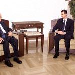 الرئيس الاسد يستقبل السيد سليم الحص - 03.07.2003