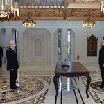 أمام السيد الرئيس بشار الأسد المهندس سليمان العباس يؤدي اليمين الدستورية وزيرا للنفط و الثروة المعدنية - 12.02.2013