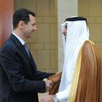 السيد الرئيس بشار الأسد في لفاء مع سمو الشيخ حمد بن جاسم بن جبر آل ثاني رئيس الوزراء القطري وزير الخارجية العلاقات الثنائية المتميزة ومواجهة السياسات العدوانية التي تمارسها إسرائيل - 02.05.2010