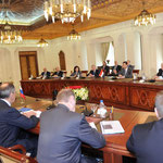 الرئيسان الاسد وميدفيديف يعقدان جلسة مباحثات موسعة بحضور اعضاء الوفدين الرسميين - 11.05.2010