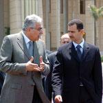 السيد الرئيس في زيارة الى القاهرة ولقاء مع الرئيس مبارك - 27.07.2004