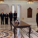 أمام السيد الرئيس بشار الأسد المهندس عماد محمد ديب خميس يؤدي اليمين الدستورية وزيرا للكهرباء - 16.04.2011