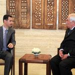 أمام الرئيس الأسد .. محمد خالد الهنوس يؤدي اليمين القانونية محافظا لدرعا - 04.04.2011