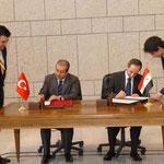 توقيع الاتفاقيات بين الجانبن التركي والسوري - 16.05.2009