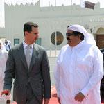 أمير دولة قطر مودعا الرئيس الأسد في مطار الدوحة - 19.05.2010