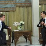 الرئيسان الأسد وميدفيديف يعقدان اجتماعاً ثنائياً - 10.05.2010