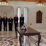أمام السيد الرئيس بشار الأسد الدكتور محمد نضال الشعار يؤدي اليمين الدستورية وزيرا للاقتصاد والتجارة - 16.04.2011