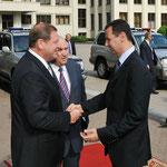 الرئيس الأسد يجري جلسة مباحثات مع رئيس الوزراء البيلاروسي سيرغي سيدورسكي - 26.07.2010