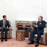 الرئيس الأسد يبحث مع قهوجي التعاون بين الجيشين السوري واللبناني - 18.01.2011