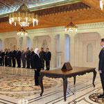أمام السيد الرئيس بشار الأسد الدكتورة كندة الشماط تؤدي اليمين الدستورية وزيرة للشؤون الاجتماعية - 12.02.2013