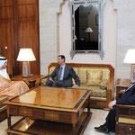السيد الرئيس بشار الأسد يتسلم رسالة من الشيخ خليفة بن زايد آل نهيان نقلها وزير خارجية الإمارات - 24.04.2011