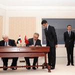 سورية وتركيا توقعان اتفاقيتي تعاون في مجالي الإعلام والاستخدام المشترك للمنافذ الحدودية - 08.05.2010