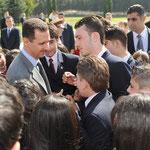 الرئيس الأسد يزور صرح الشهيد ويضع إكليلاً من الزهر على ضريح الجندي المجهول - 06.05.2010