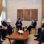 الرئيس الأسد يلتقي وزير خارجية النرويج - 13.01.2011