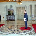 الرئيس الأسد يستلم أوراق إعتماد السفير التركي في دمشق - 02.12.2004