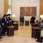 الرئيس الأسد يلتقي أعضاء المكتب التنفيذي لنقابة الفنانين - 11.01.2011