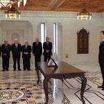 أمام السيد الرئيس بشار الأسد السيد عدنان سلاخو يؤدي اليمين الدستورية وزيرا للصناعة - 16.04.2011