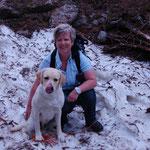 Mia und ich beim Bergwandern