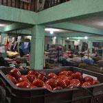 Dentro del mercado.