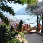 Vista al lago de Atitlán