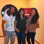 Con Stanzi, presentadora de Campus TV
