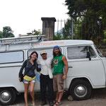 Con Francisco en Cerro de Oro (gracias  a él pudimos bañarnos!)