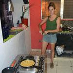 Preparando la cena