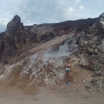 Vapores del volcán