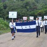 Desfile por la independencia de Honduras