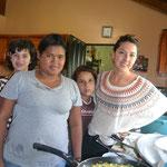 Esmeralda, Jamie, Fabiola y Andrea.